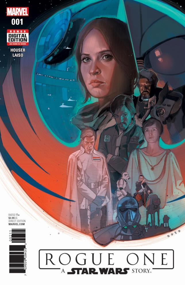 La copertina del fumetto Marvel di Rogue One