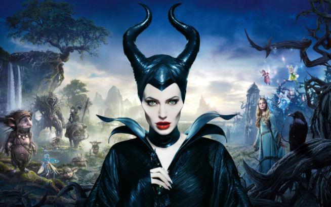 Angelina Jolie in un'immagine promozionale del primo Maleficent