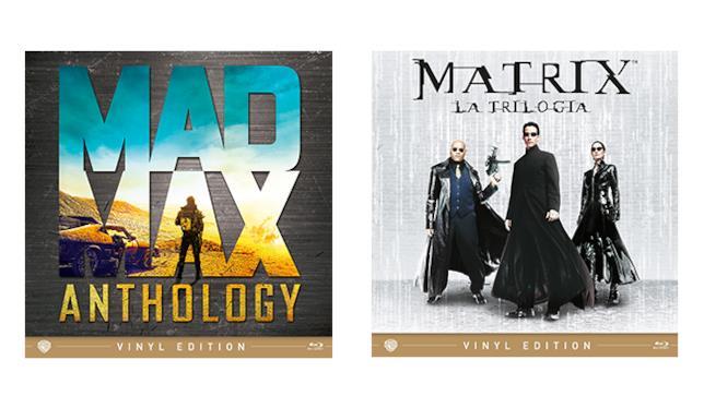 Cover della Mad Max Anthology e Matrix la trilogia nella Vinyl Edition