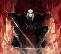 Un iimmagine, versione fumetto, che presenta il personaggio di Elric