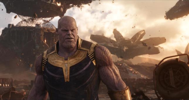 Thanos in una scena di Avengers: Infinity War
