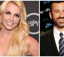Primo piano di Britney Spears e Jimmy Kimmel