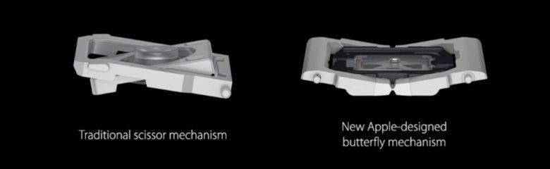 Differenze tra pulsanti: meccanismo tradizionale e meccanismo a farfalla di Apple