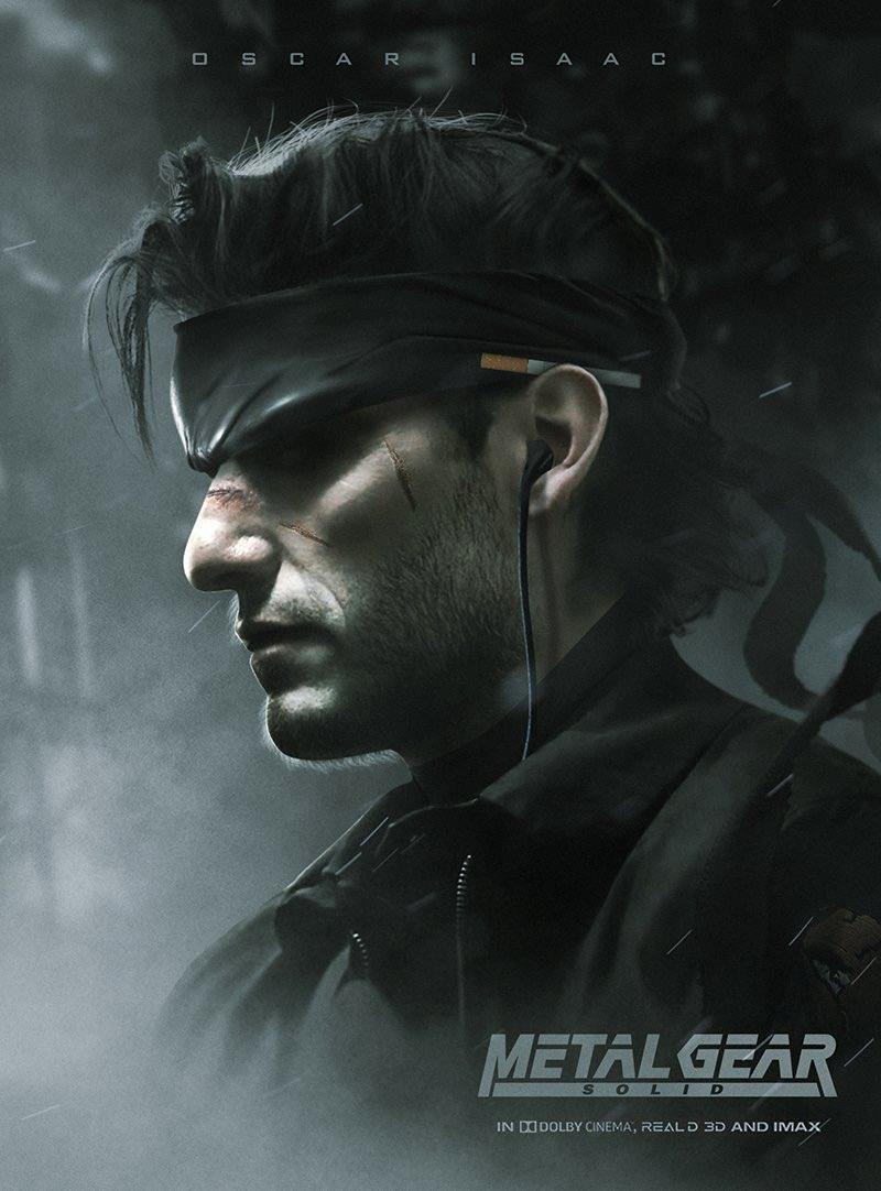 Oscar Isaac come Solid Snake, disegnato da BossLogic