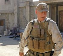 Leroy Jethro Gibbs con una divisa militare sul set di NCIS