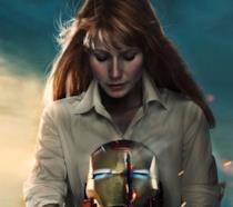 Gwynet Paltrow è Pepper Pots in un'immagine promozionale di Iron Man 3