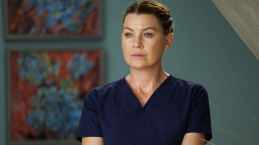 Primo piano di Ellen Pompeo in Grey's Anatomy