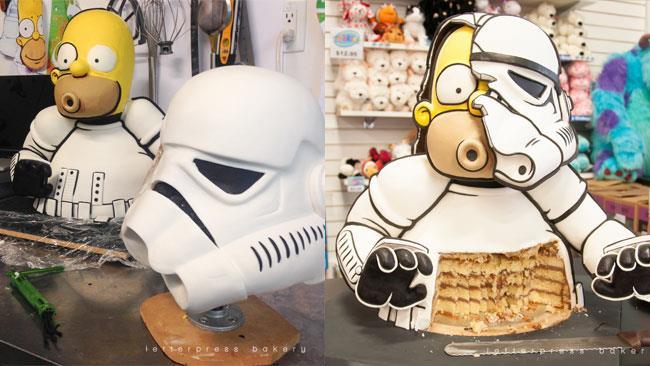 La torta con Homer Stormtrooper