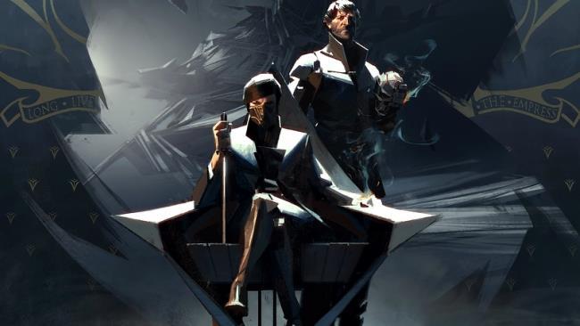 Corvo Attano e Emily Kaldwin in un'immagine promozionale del gioco