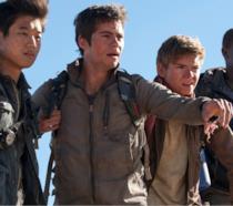 Il cast di Maze Runner in un'immagine del film