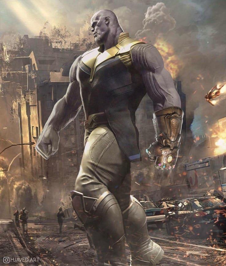 Fan art di Thanos