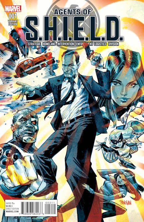 Variant cover per Agents of S.H.I.E.L.D. #1 di Dan Panosian