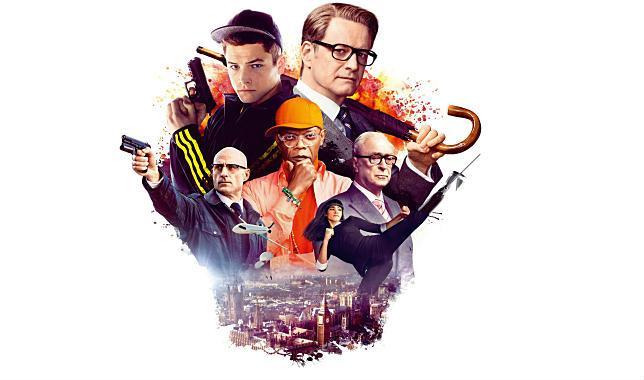 La locandina con i protagonisti di Kingsman - The Secret Service
