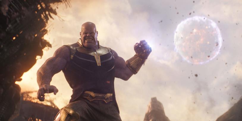 Thanos in una sequenza di Infinity War