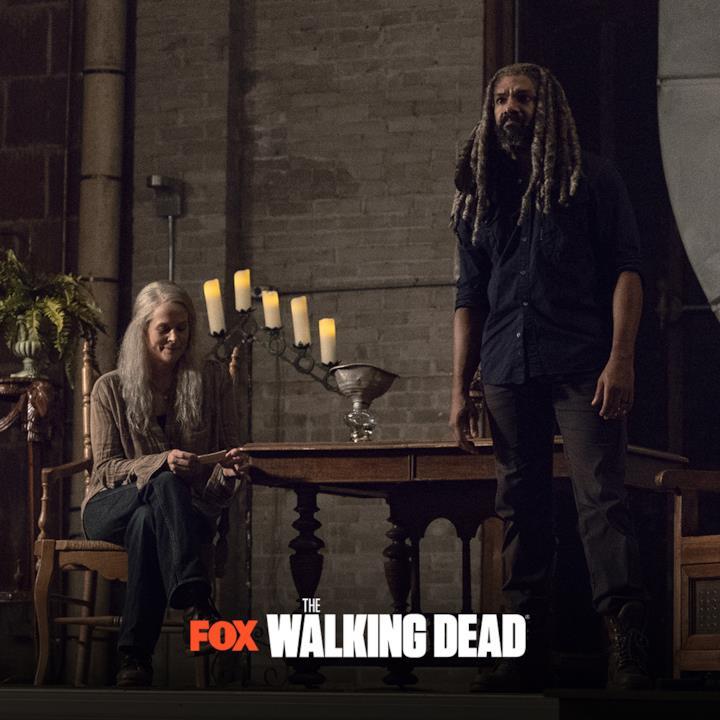 Una scena con Carol ed Ezekiel dai nuovi episodi di The Walking Dead 9: u