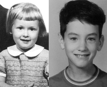 A sinistra una piccolissima Meryl Streep e a destra un giovanissimo Tom Hanks