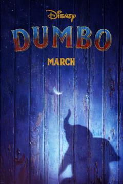 Il teaser poster con la data di uscita di Dumbo (2019)