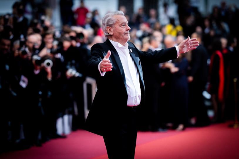 Alain Delon sul red carpet di Cannes 2019