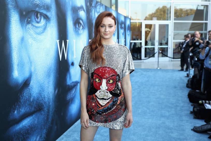 Sophie Turner alla première di Game of Thrones