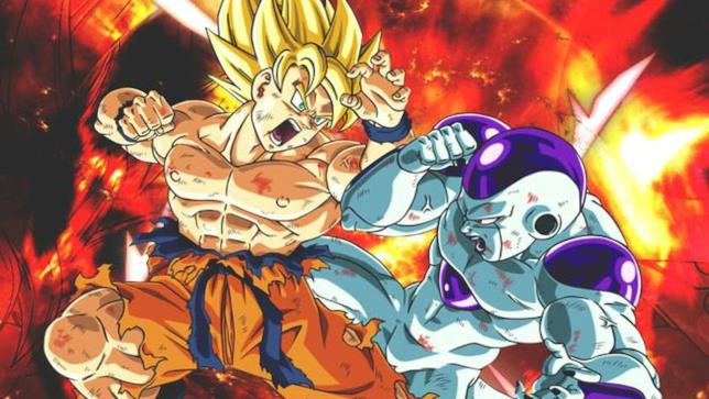 Goku contro Freezer in un'immagine tratta da Dragon Ball Z