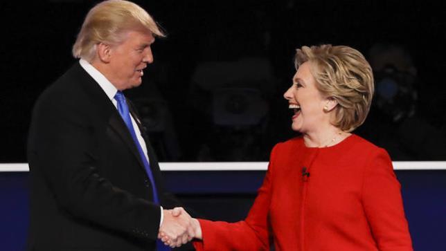 Hillary Clinton e Donald Trump al primo dibattito televisivo