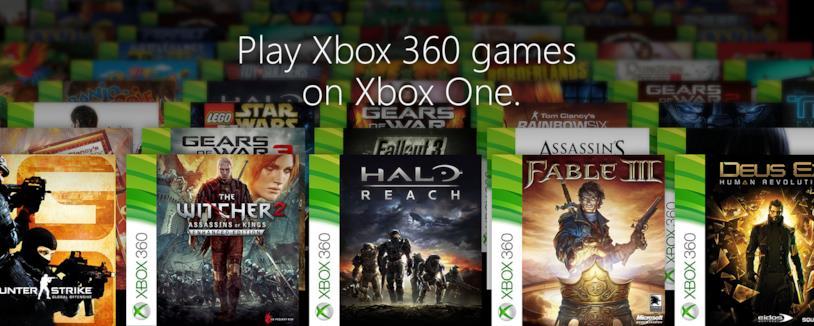 Immagine promozionale della retrocompatibilità su Xbox One