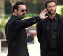 Il regista James Mangold a sinistra e l'attore Hugh Jackman a destra