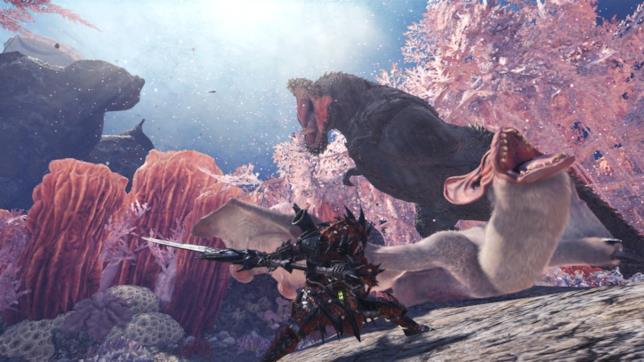 Un'immagine di gioco da Monster Hunter World