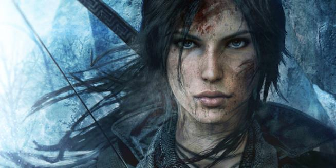 Un intenso primo piano di Lara Croft da Rise of the Tomb Raider