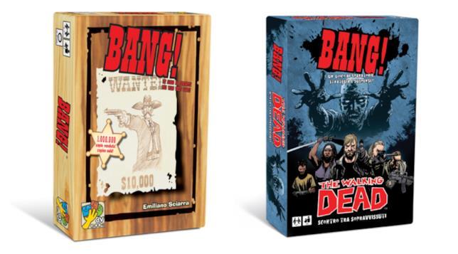 BANG! versione classica e versione The Walking Dead