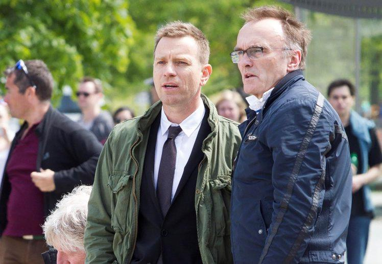 Ewan McGregor e Danny Boyle sul set di Trainspotting 2