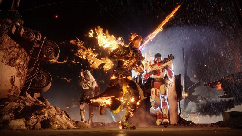 Tre Guardiani in azione in Destiny 2