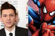 Un collage di Tom Holland e Spider-Man