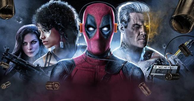 Deadpool, Cable e Domino in una fanart di BossLogic