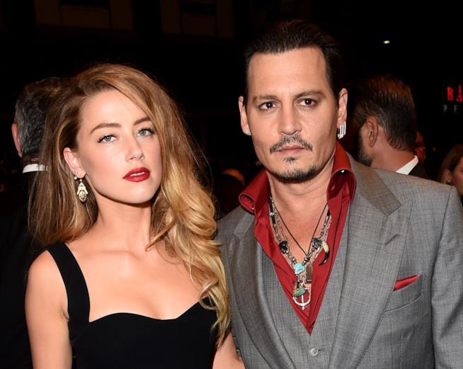 Johnny Depp e Amber Heard nel 2015