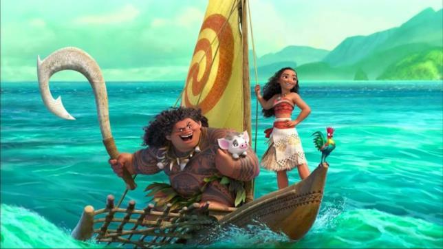 Vaiana, Maui e gli altri protagonisti di Oceania
