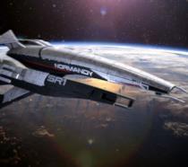 Il primo modello di Normandy sorvola la Terra in Mass Effect