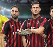 Alcuni dei giocatori più rappresentativi del Milan in PES 2019