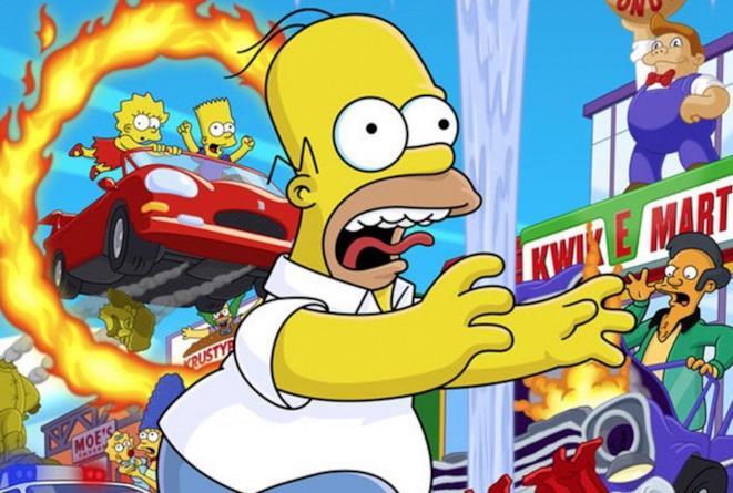 Il logo di Simpson Hit and Run