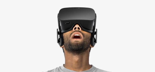 Immagine promozionale del visore Oculus Rift