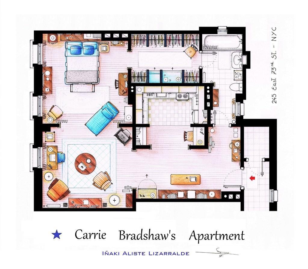 Circondata da queste quattro mura Carrie Bradshaw scopriva i segreti più nascosti del sesso