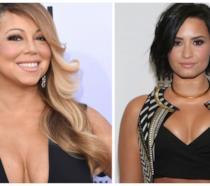 Primo piano di Mariah Carey e Demi Lovato