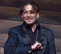 Johnny Depp alla presentazione di Pirati dei Caraibi in Giappone