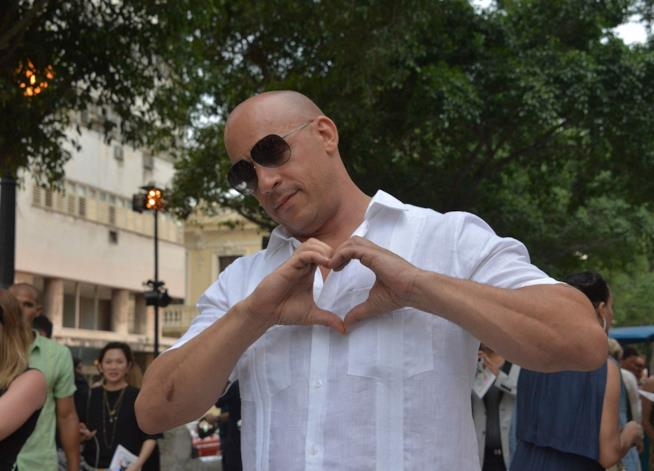 Vin Diesel sul set di Fast 8