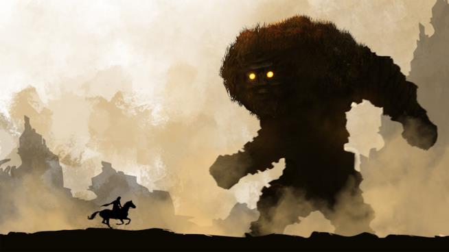 Un artwork di Shadow of the Colossus