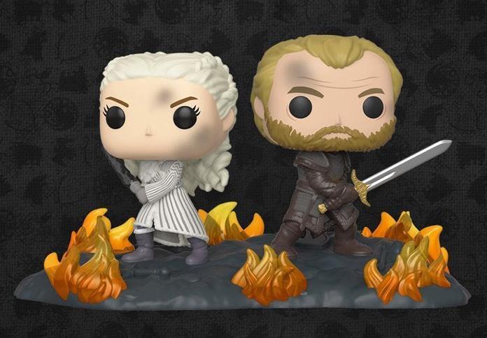 I Funko Pop di Daenerys e Jorah che combattono a Grande Inverno