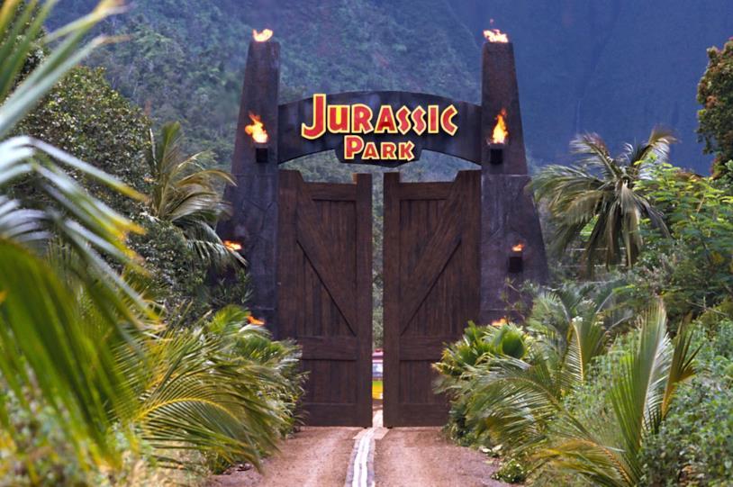 Il gate principale di Jurassic Park