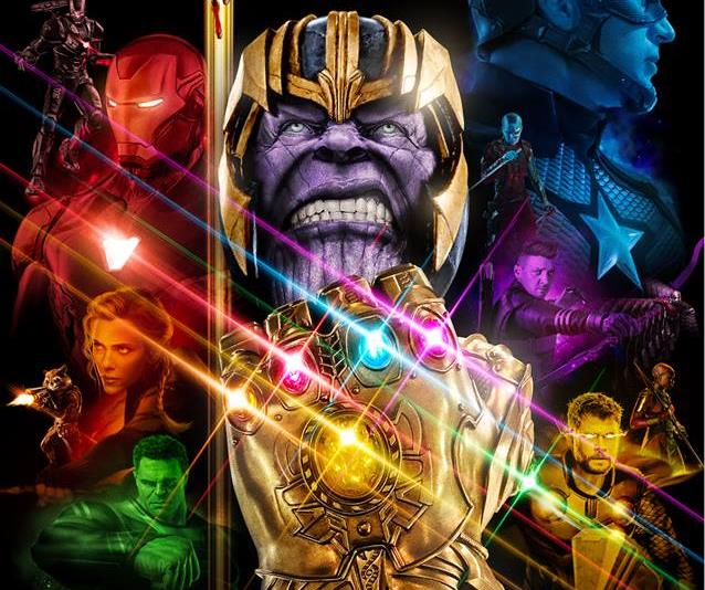 Poster di Avengers: Endgame realizzato da John Aslarona