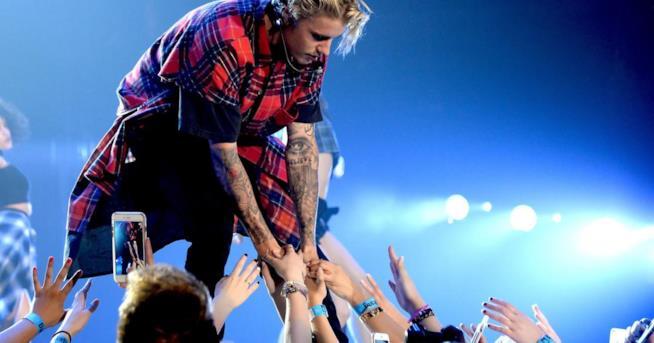Justin Bieber durante il Purpose World Tour