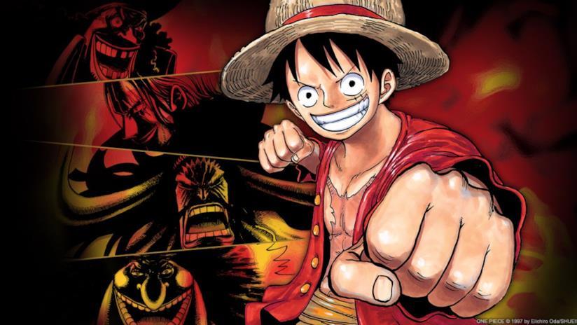 One Piece Rufy e i 4 Imperatori
